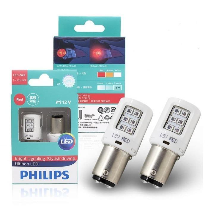 Philips Vision LED S25 (P21/5W) 12V (Lampu Rem Merah Motor Mobil)