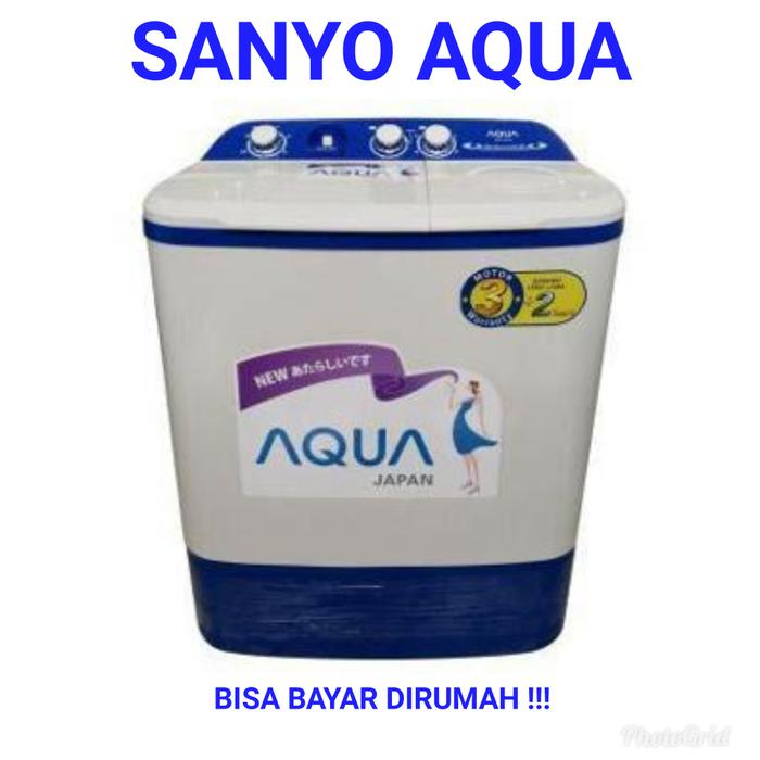 Hot Item!! Mesin Cuci 2 Tabung Sanyo Aqua 871 Xt. 8Kg. New Series - ready stock