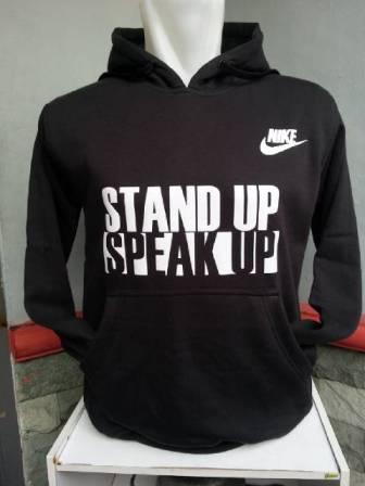 Sweater Hoodie Nike Stand Up (Black/White)