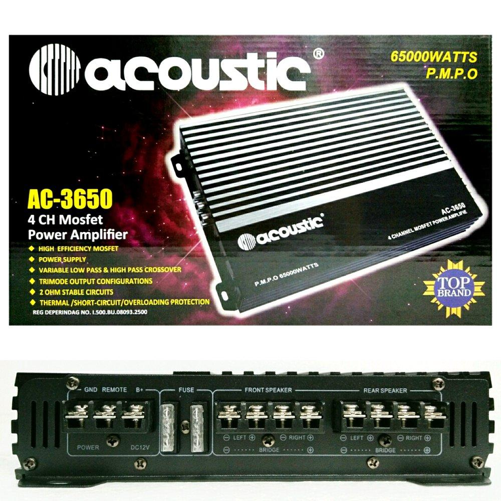 Jual Peralatan Audio Mobil Tape Bluetooth Usb Mp3 Fm Radio Jsd 520 Acoustic Ac3650 Power 4 Chenel Mosfet Bass Berkualitas
