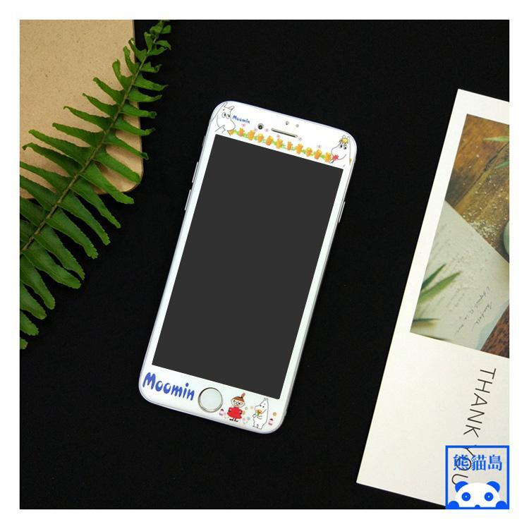 Pelindung Layar Iphone6splus Kaca Anti Panas Tubuh I7 Kartun Layar Penuh Anti Meledak
