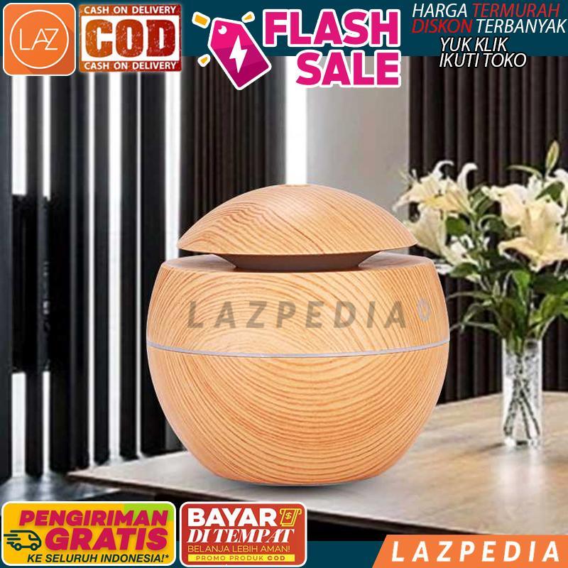 COD/BYR DITEMPAT - [K-H41 KUNING] Aromatherapy Air Humidifier Desain Kayu