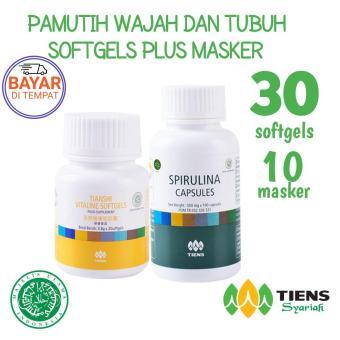 Harga Penawaran Tiens Paket Pemutih Badan dan Wajah - Tiens Masker Spirulina - 10 Kapsul +