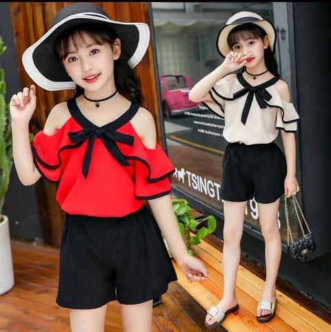 fashionshop STELAN WAINI -Putih ( Atasan + Celana )   Mininie Kids   Set  2in 1 Jump Minnie  Stelan Baju Anak   Setelan Muslim Anak   Gamis Anak    Gamis ... 7e7661b2bc