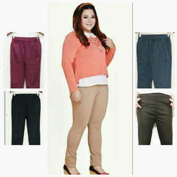 Diskon Terlaris Celana Panjang Model Pensil/Leging/Lurus Big Size/Jumbo/Besar/Ukuran Cewe Murmer