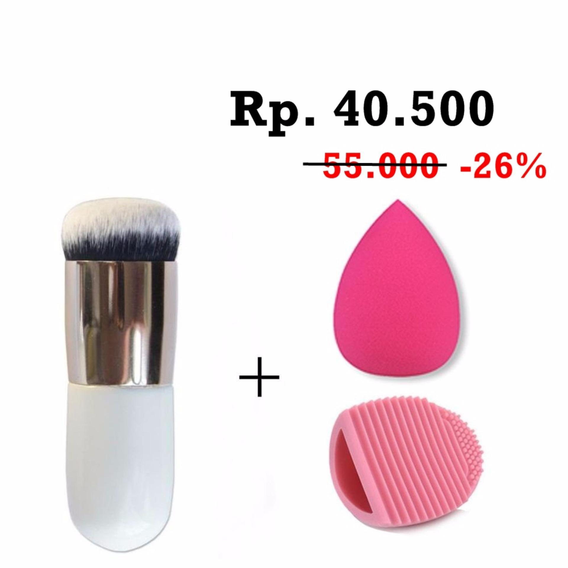 Buy Sell Cheapest Spon Beauty Make Best Quality Product Deals Spons Bedak Isi 2 Jbs New York Makeup Brush Bundle Kuas Up Set Chuby Pier Silver Egg