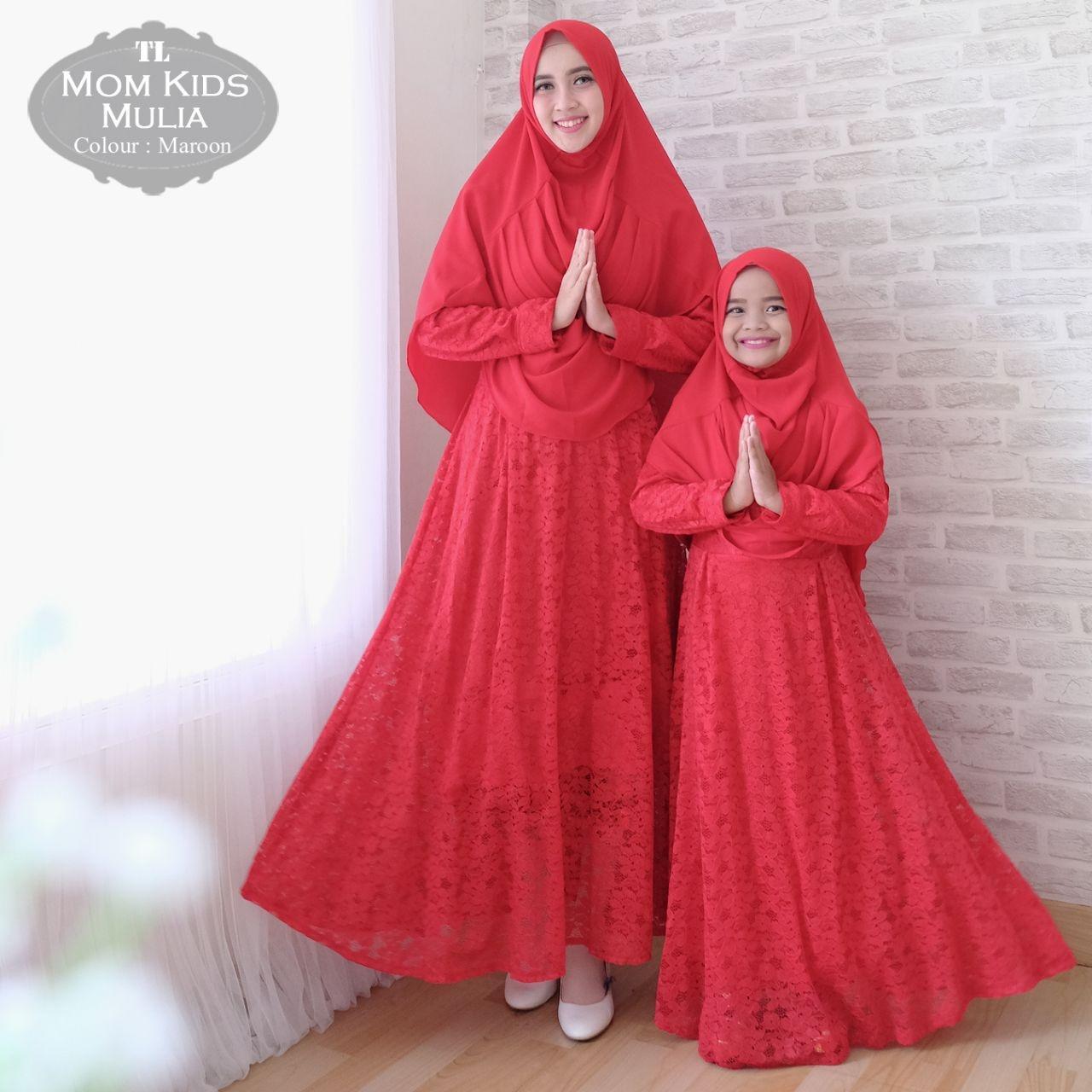 silentriver88 gamis muslim syari brukat mulia ibu dan anak couple.