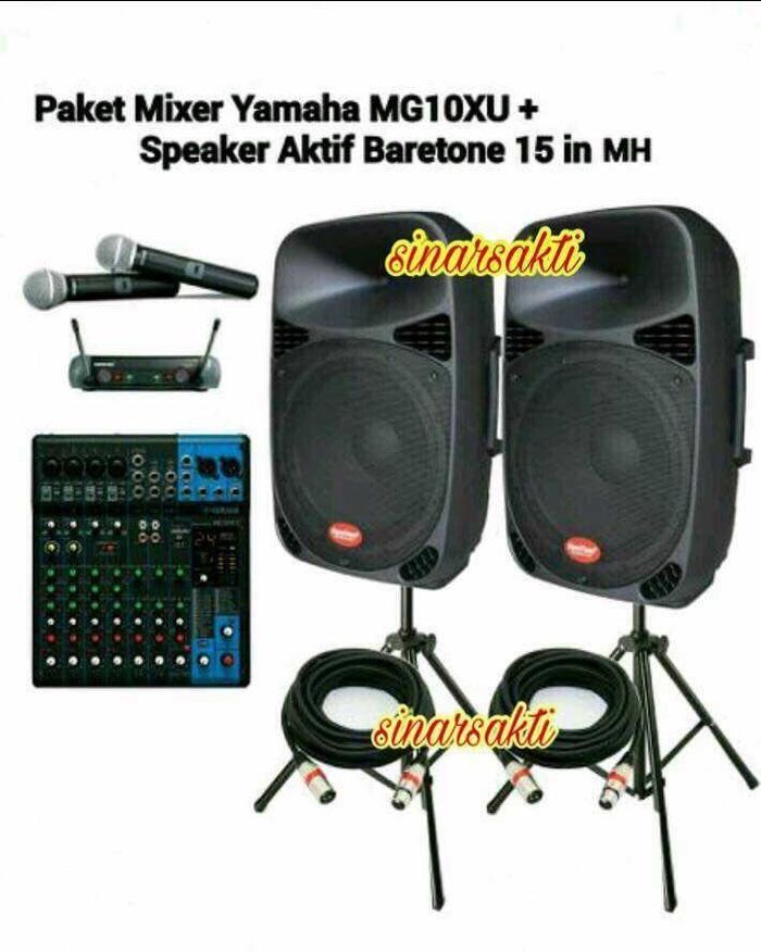 ORIGINAL PROMO PAKET SOUND SYSTEM YAMAHA & BARETONE ( 15 INCH AKTIF ) ORIGINAL