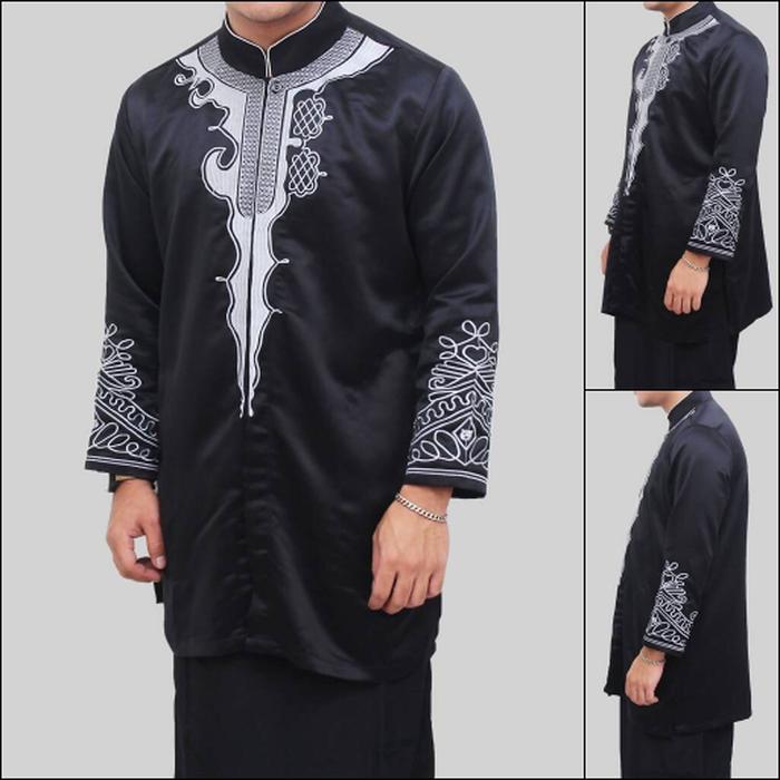 baju koko black panther fashion muslim pria terlaris