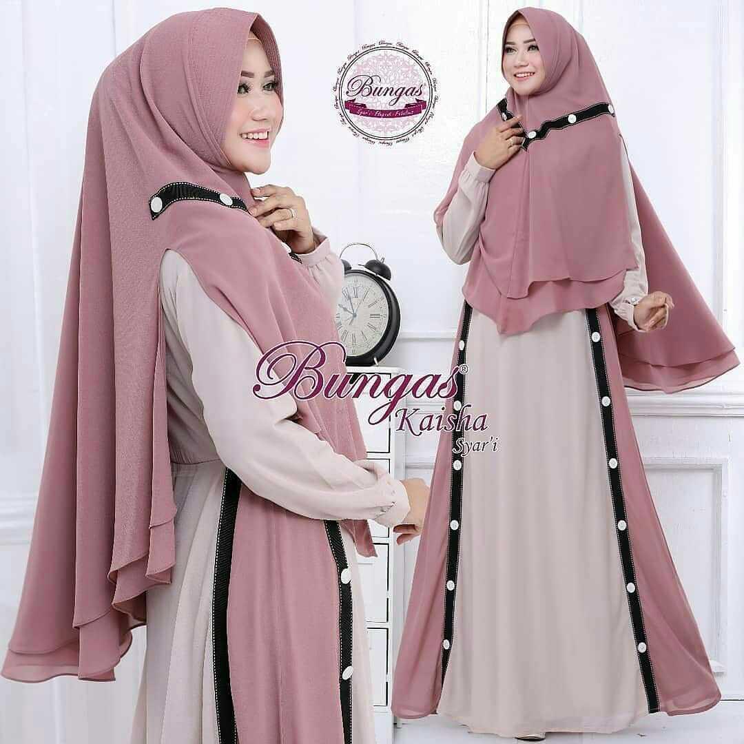 Baju Murah Terbaru Gamis Gaza Syari Dress Wolfice Panjang Gamis Casual Baju  Modis Muslim Syari Pesta 32c967be20