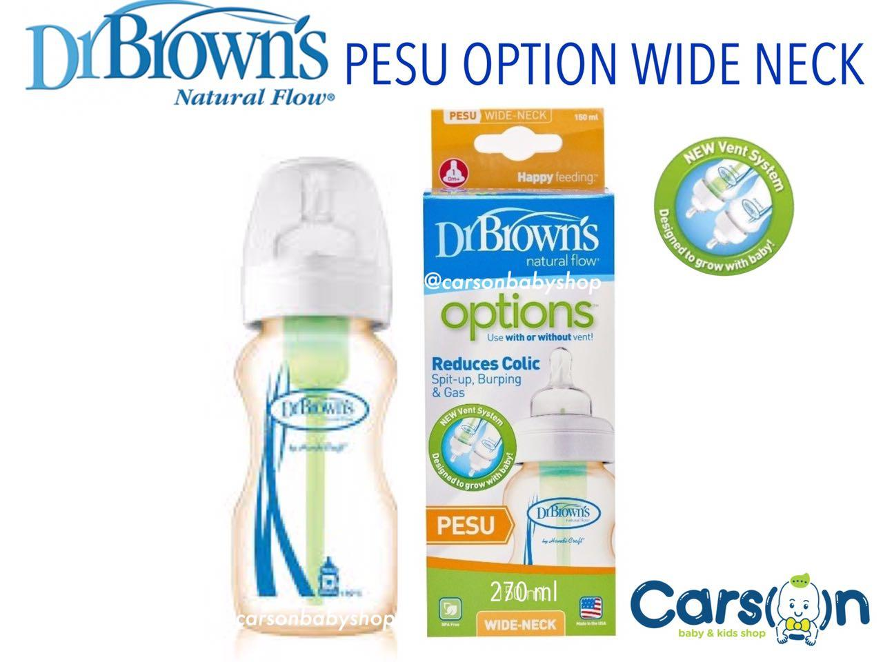 Buy Sell Cheapest Dr Browns Options Best Quality Product Deals Drbrowns 5oz 150ml Pp Wide Neck Bottle Brown Pesu 270ml Botol Susu Drbrown