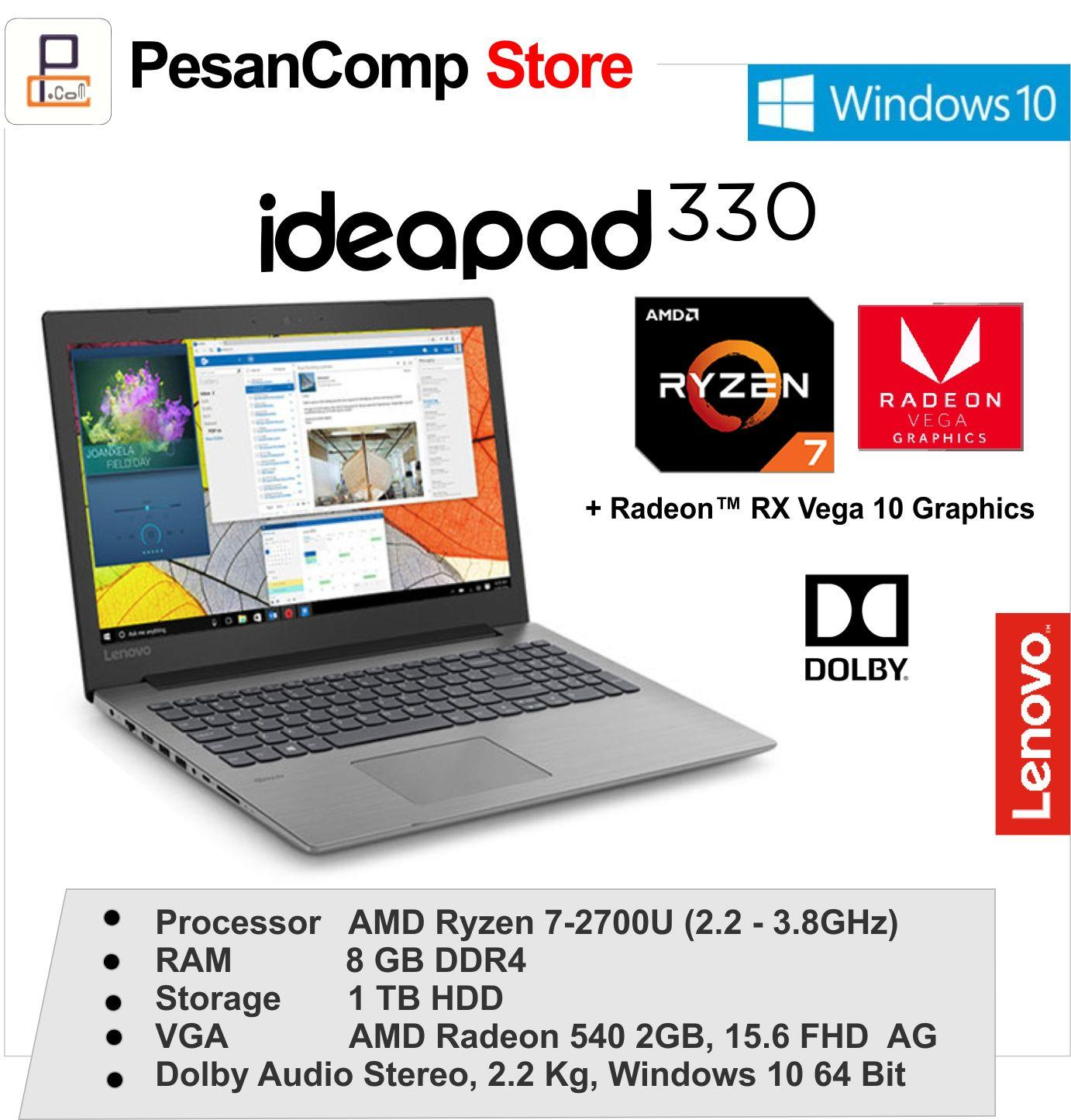 Laptop Gaming Lenovo Terbaik Ideapad 110 Amd A8 7410 Ram 4gb 1tb Hdd Radeon R5 M430 2gb 156 Inch Hd Dos Black 330 15arr Ryzen 7 2700u 8gb Ddr4