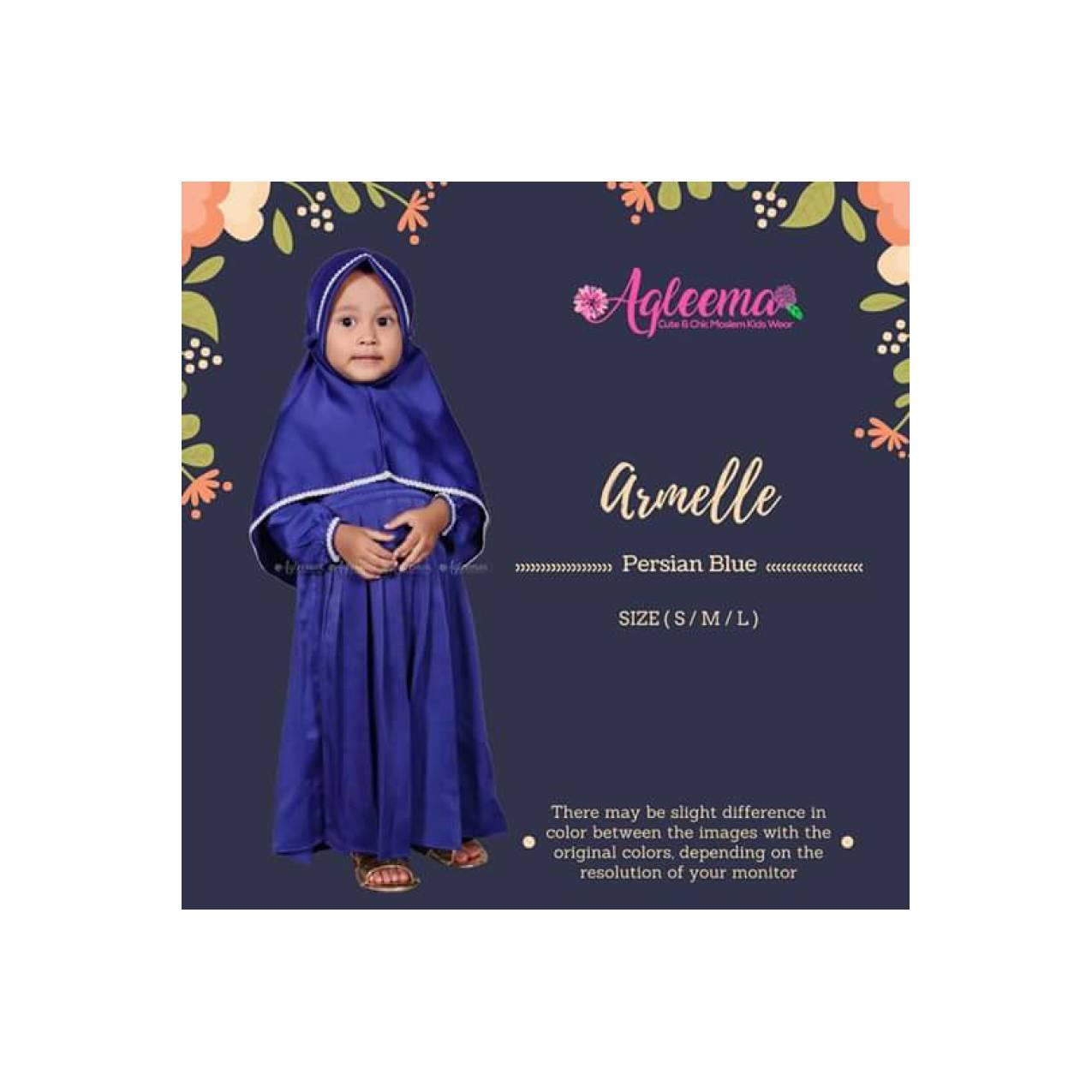 Gamis Anak / Baju Muslim Anak / Baju Pesta Anak / Armelle ElectricBlue