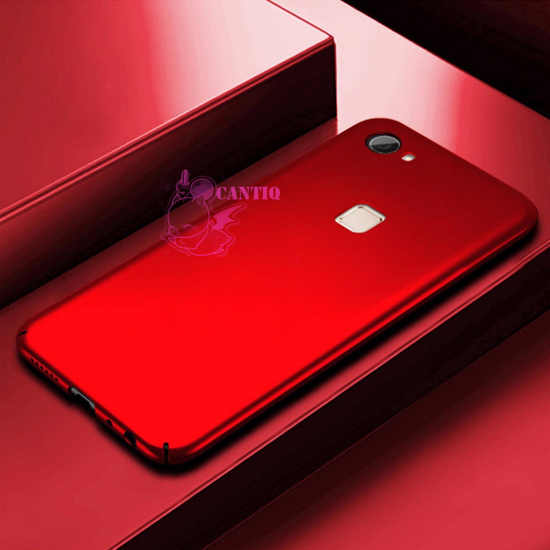 QCF Case Vivo Y75 Hard Slim Red Mate Anti Fingerprint Hybrid Case Baby Skin Vivo Y75 / Baby Hardcase Vivo Y75 / Baby Skin Vivo Y75 / Casing Vivo Y75 / Case Vivo Y75 - Merah / Red