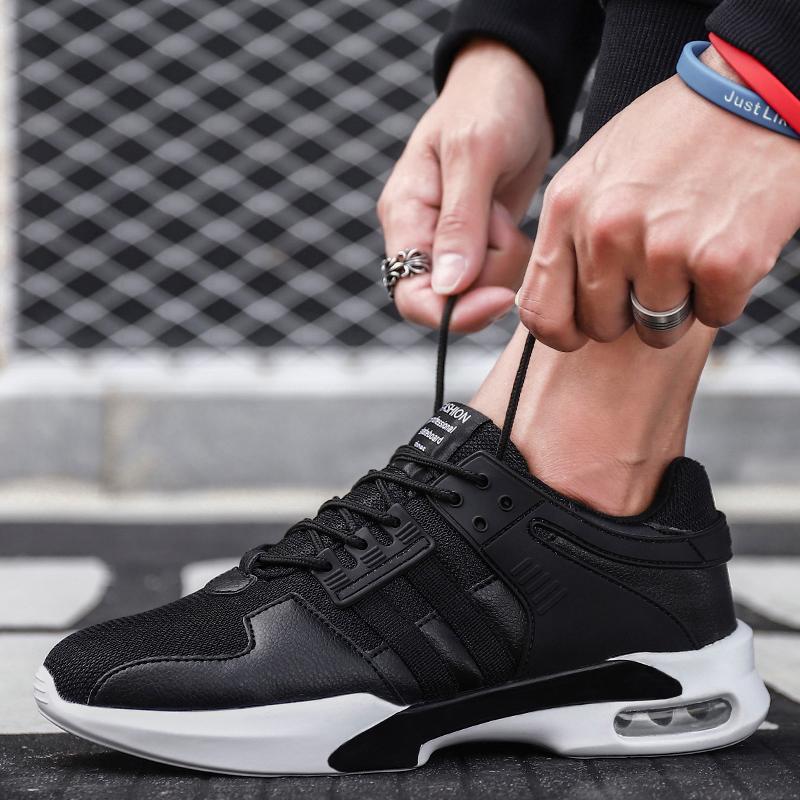 Zyats 2018 Sepatu Modis Baru Korea Trendi Renda Kasual Sepatu Lari, Bantalan Luar Sepatu Bantalan Non-slip
