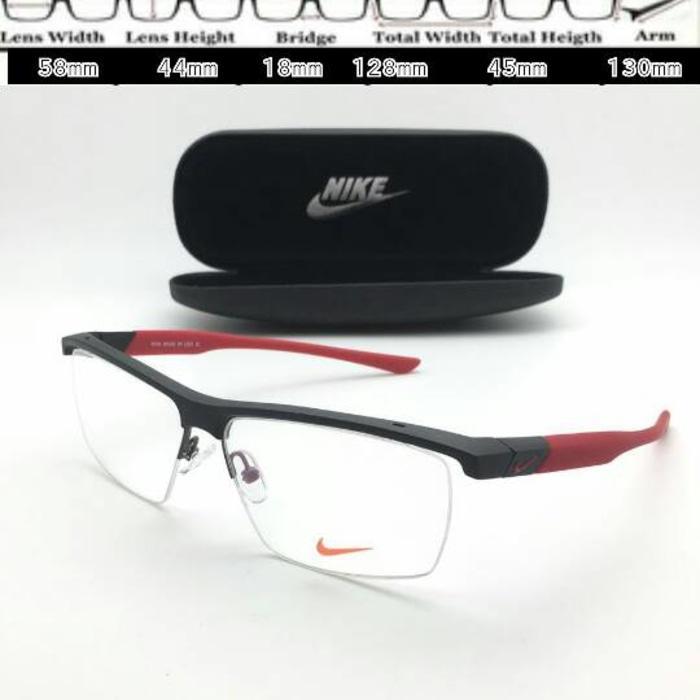 Frame Kacamata Nike 7077 Sport Hitam Merah. Frame Kacamata Nike 7077 Sport . d31f19424c