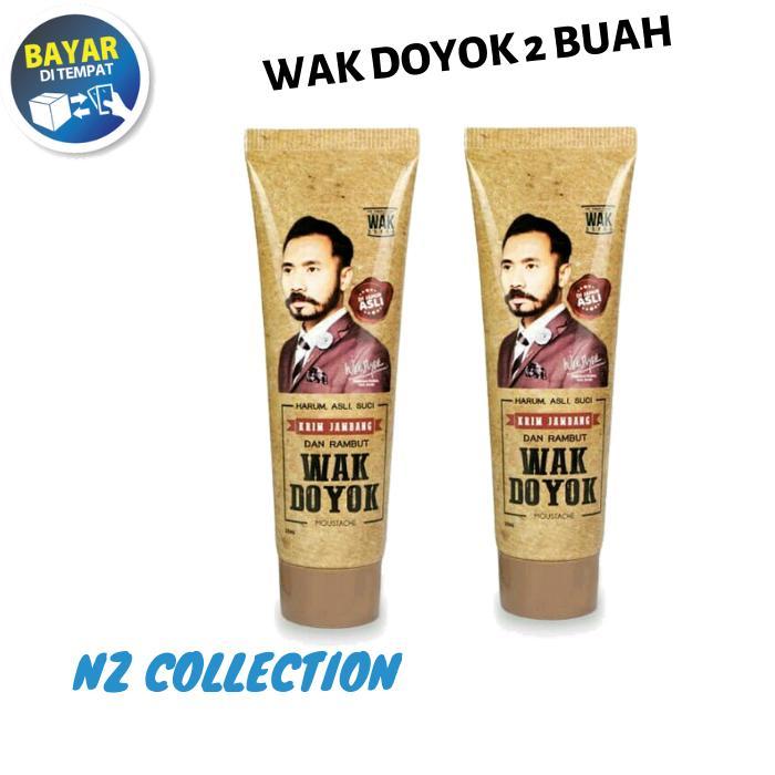 [2 BOTOL] WAK DOYOK Cream 30ml Original Hologram - Wakdoyok Krim Penumbuh Jambang