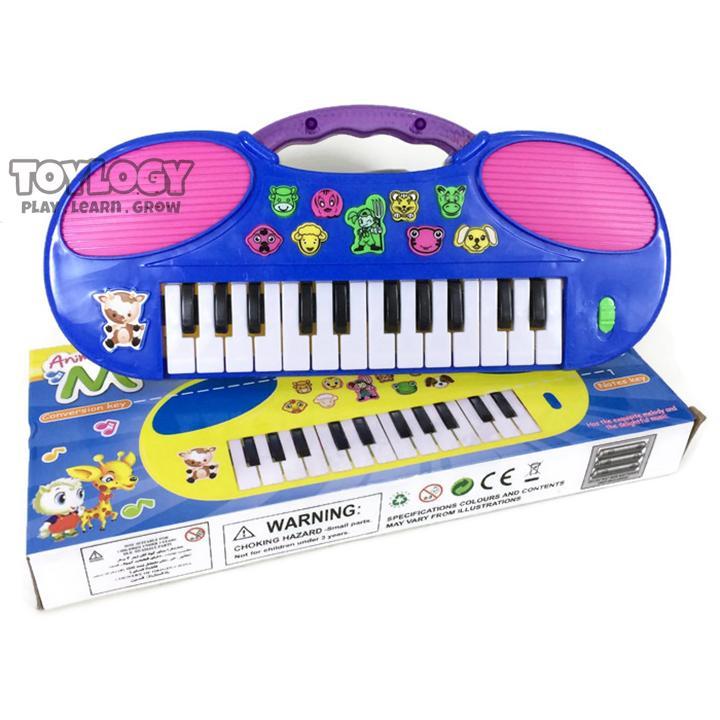 Toylogy Mainan Edukatif / Edukasi Anak - Alat Musik Piano Animal Music Keyboard