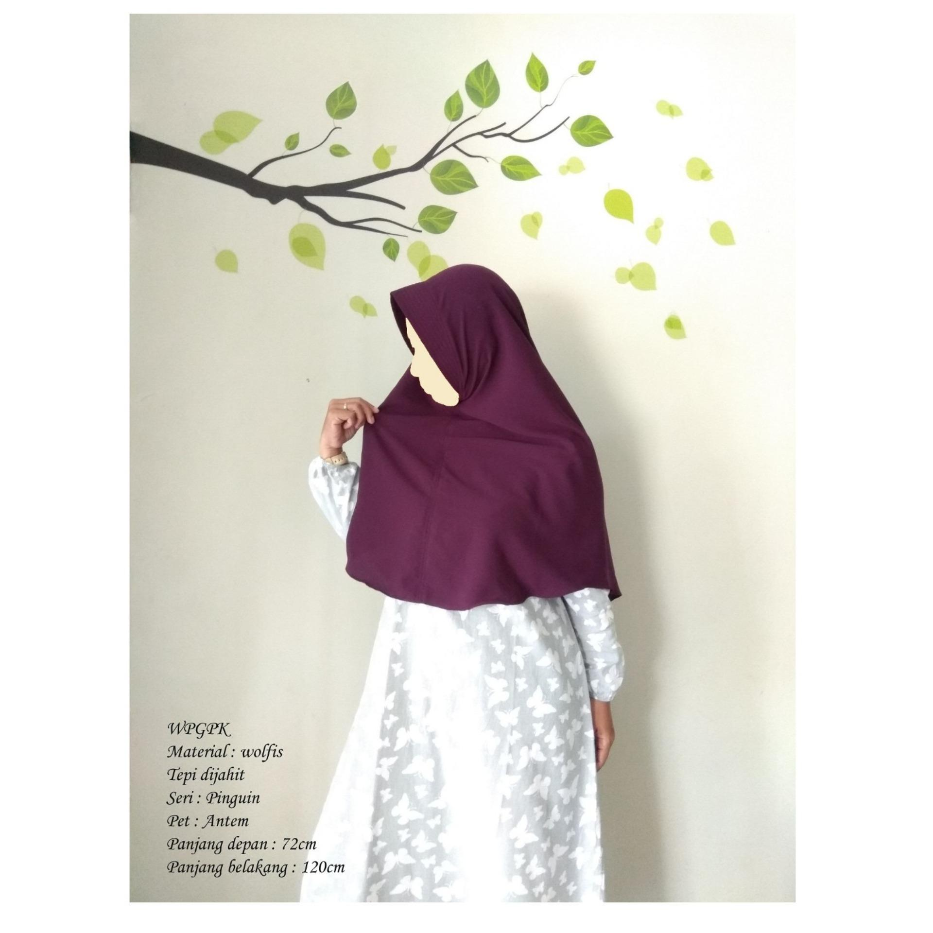 TBIJ - HIjab/Jilbab/Khimar Syari Al Qudwah - Hijab/Jilbab Instan - Bahan Wolfis - Hijab Syar'i - Ukuran M