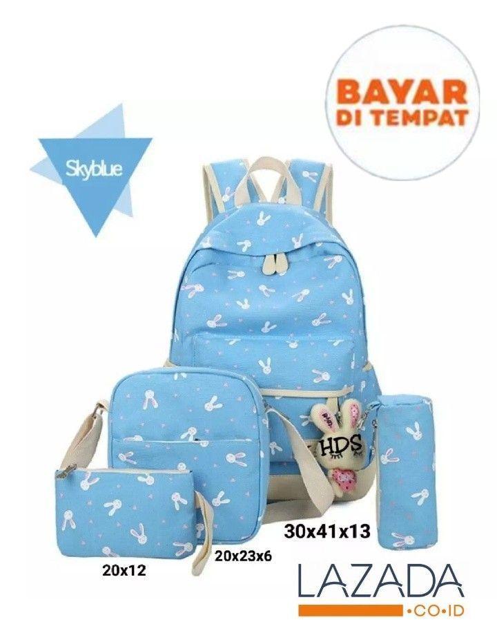 promo!!! tas anak / sekolah /backpack wanita dengan model terbaru/ motif playboy/ kelinci (TIDAK TERMASUK BONEKA)