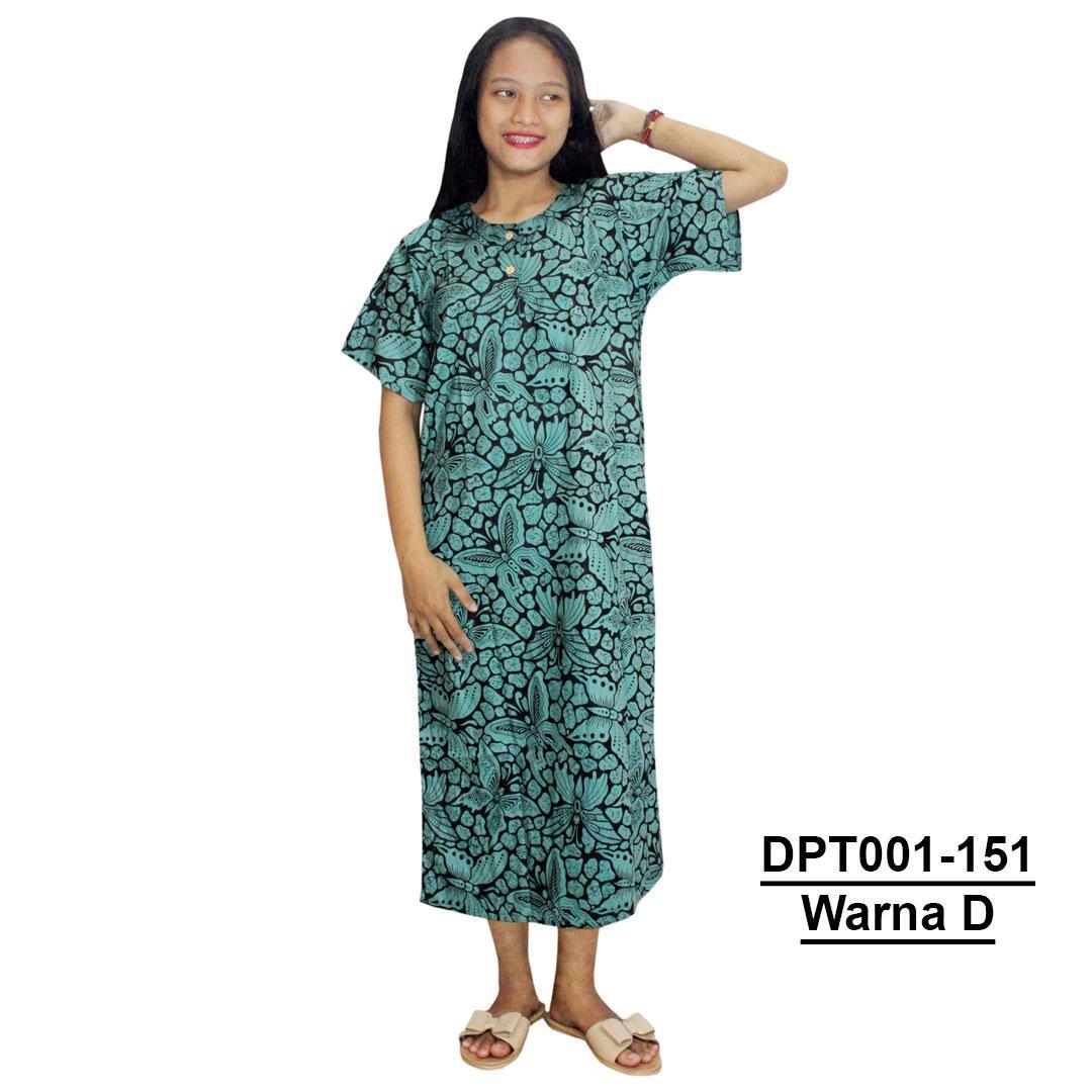 Daster Batik, Daster Lengan Pendek, Baju Tidur, Piyama, Kancing, Daster Bumil, Daster Busui (DPT001-151) Batikalhadi Online