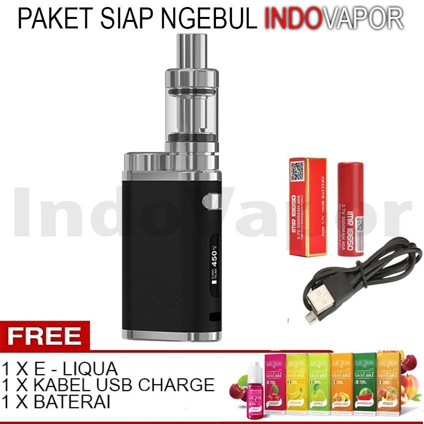 Indo Vapor - Paket Murah Siap Ngebul EL PC Vape / Rokok Elektrik 75 W 5V Stater Kit + Free Kabel US