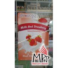 Masker Qiansoto - Milk & Strawberry (1box isi 6x35ml), Masker Wajah Best Seller