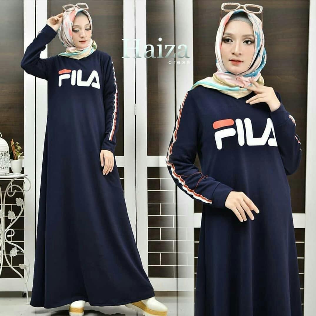 Original Baju Muslim Haiza Dress Babyterry Baju Gamis Muslim Panjang Maxy Kekinian Pakaian Wanita Hijab Syari