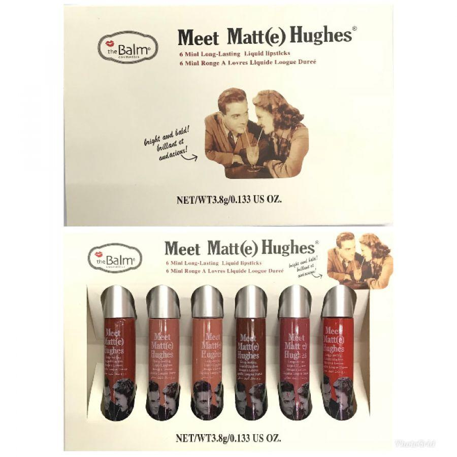(6pc) The Balm Meet Matte Hughes Lip Cream Dus Putih - Lipstik dan Pensil Bibir Paling Laris