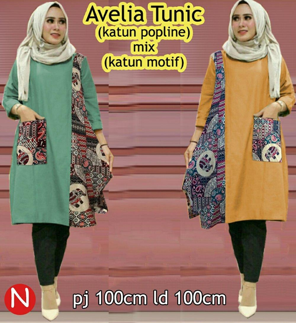 avelia tunic tunic atasan blouse wanita kemeja etnik batik elegan simple cantik style modis murah baju muslim pesta gamis syari model terbaru di lapak f2fashion bigsize jumbo ina_lavigne