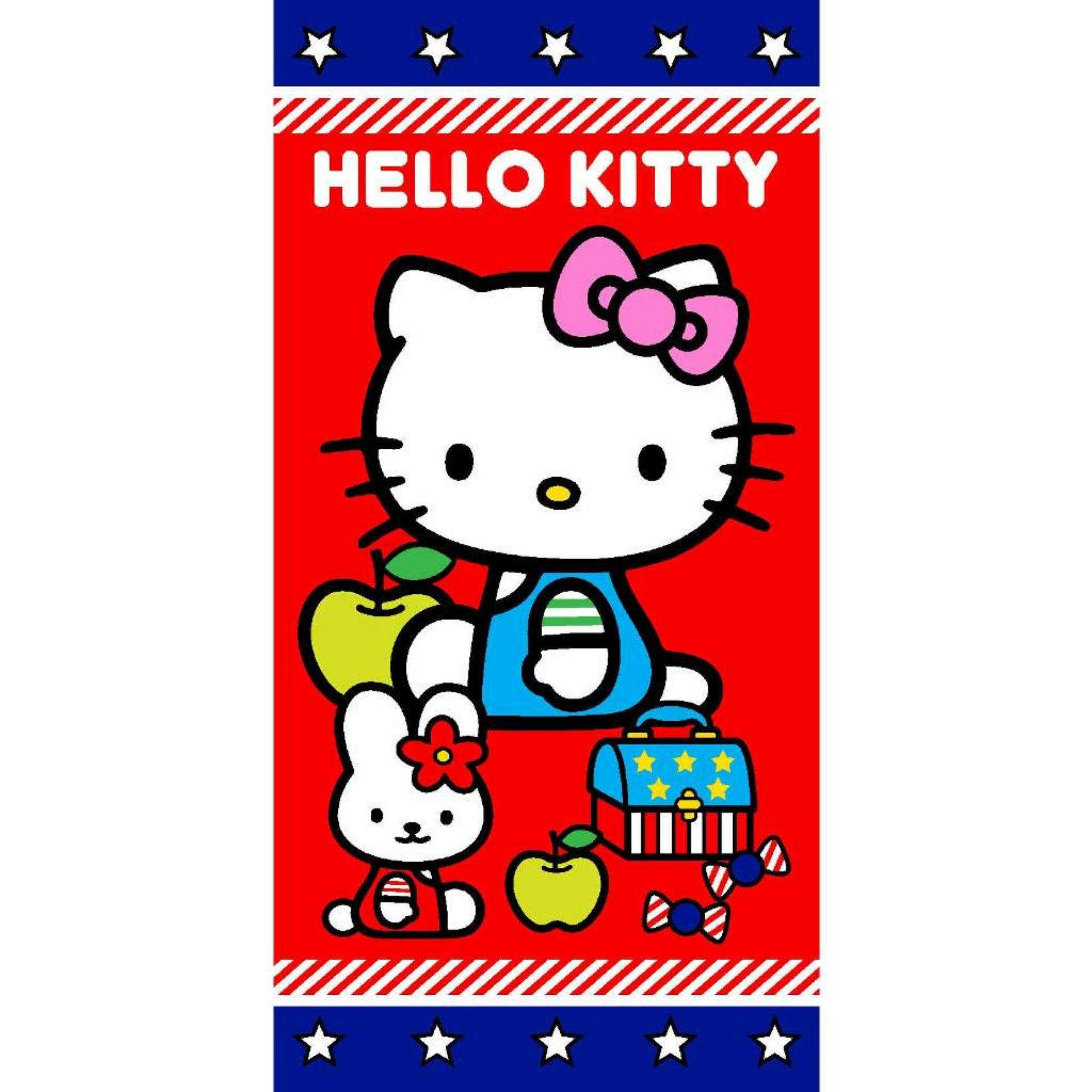 Rosanna Handuk Printing Panel 50x100cm - Hello Kitty Apple