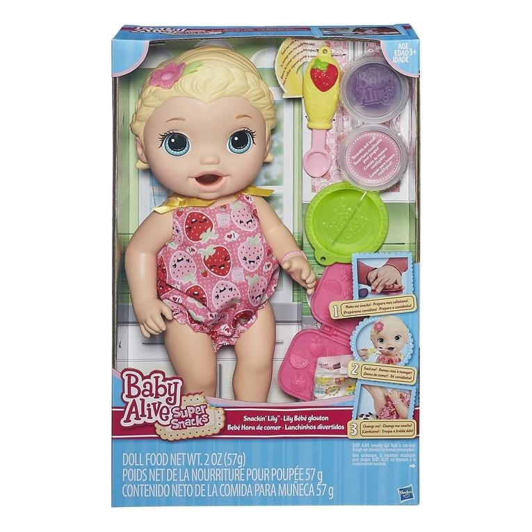 Boneka Baby Alive Super Snacks Snackin Lily Original cd574139ec