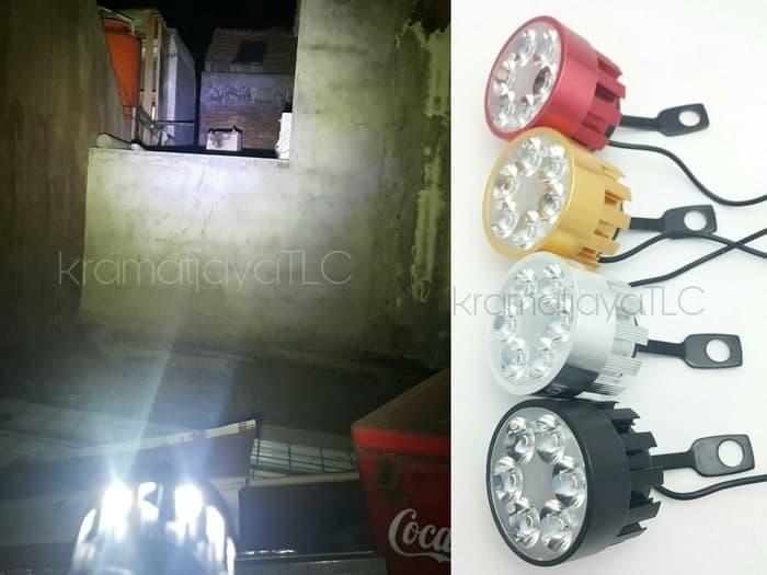 Lampu Tembak U3 LED CREE 6 Titik Sisi Sorot Bracket Spion ( BULAT )NEW