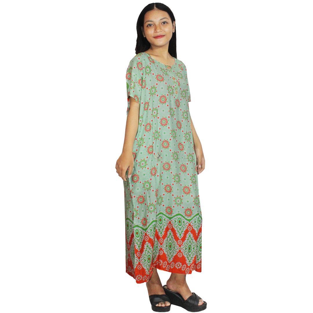 Daster Batik, Daster Lengan Pendek, Baju Tidur, Piyama, Kancing, Daster Bumil , Daster Busui, (DPT001-70) Batikalhadi Online