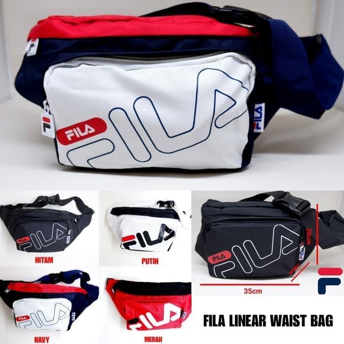 Waist Bag Fila Linear Import 4 Warna ( Unisex )