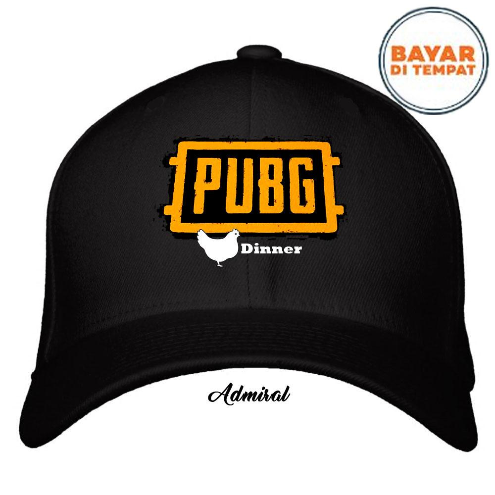 Topi Game PUBG Chicken Dinner - Premium Item - Bahan Bordir berkualitas - Distro Army Quality
