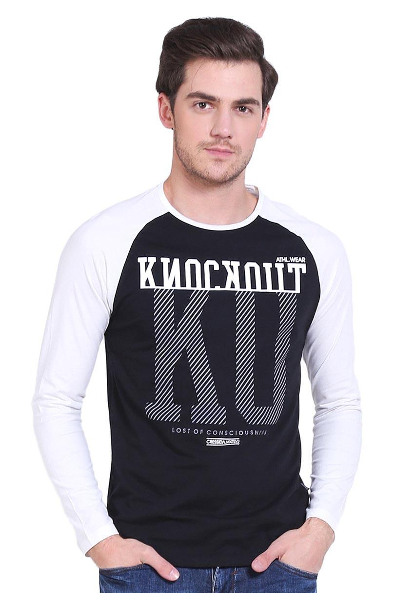 Cressida T-Shirt Kaos Pria Knockout Tee Black
