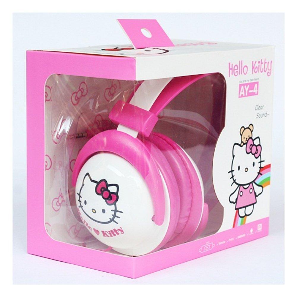 Headset Earphone Hands-free Karakter Hell Kitty Universal
