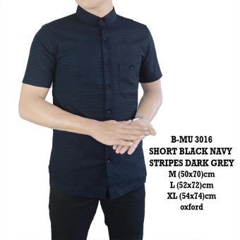 Pencarian Termurah the most - Bajum Kemeja Pria Navy stripes abu gelap 3016 sale - Hanya