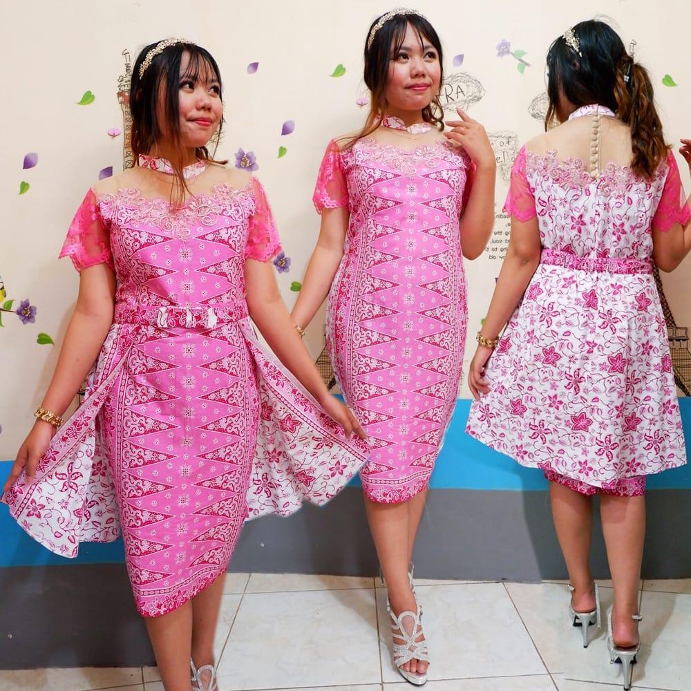 Dress Cinera Pink Batik Modern