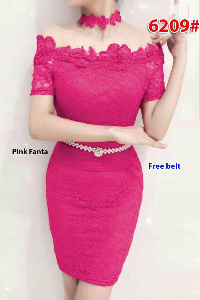 6209# baju pesta import / baju seksi / baju pesta selutut / baju sabrina / dress fashion import / gaun span