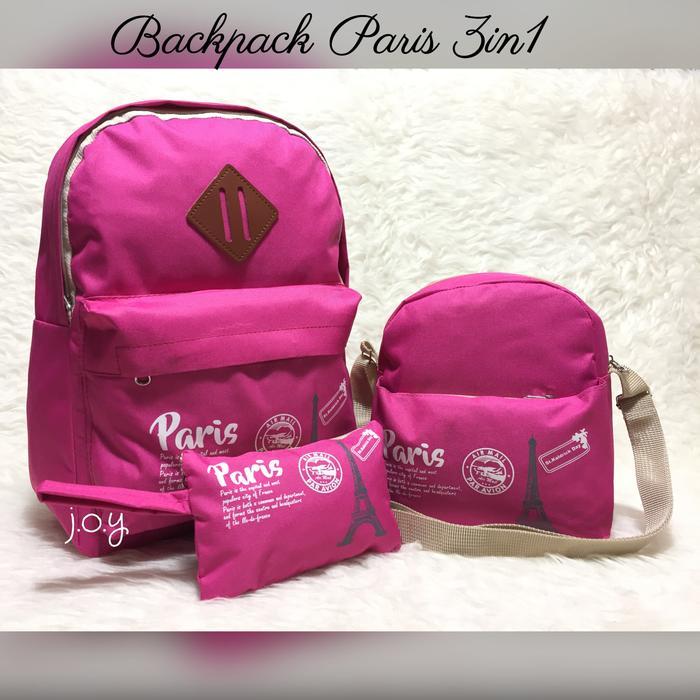 BEST SELLER!!! Tas Lokal/Tas Murah/Tas Selempang/Tas Ransel/Backpack Paris 3in1 - Kw4Yfp