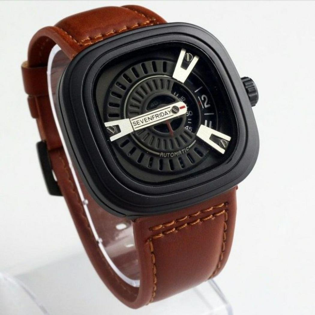 Jam tangan pria casual  Sevenfriday - leather strap - Limited Edition - Sevenfriday