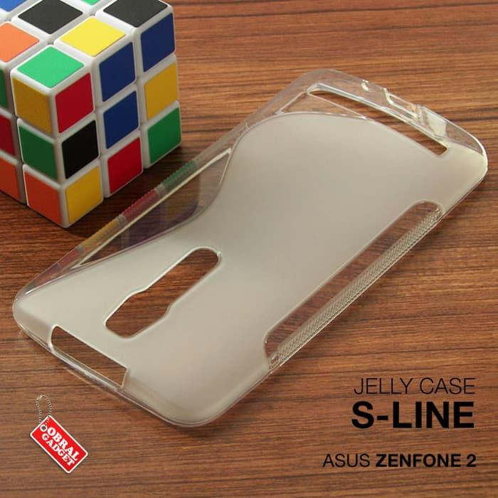 Asus Zenfone 2 Soft Gel Jelly Silicon Silikon TPU Case Softcase Clear