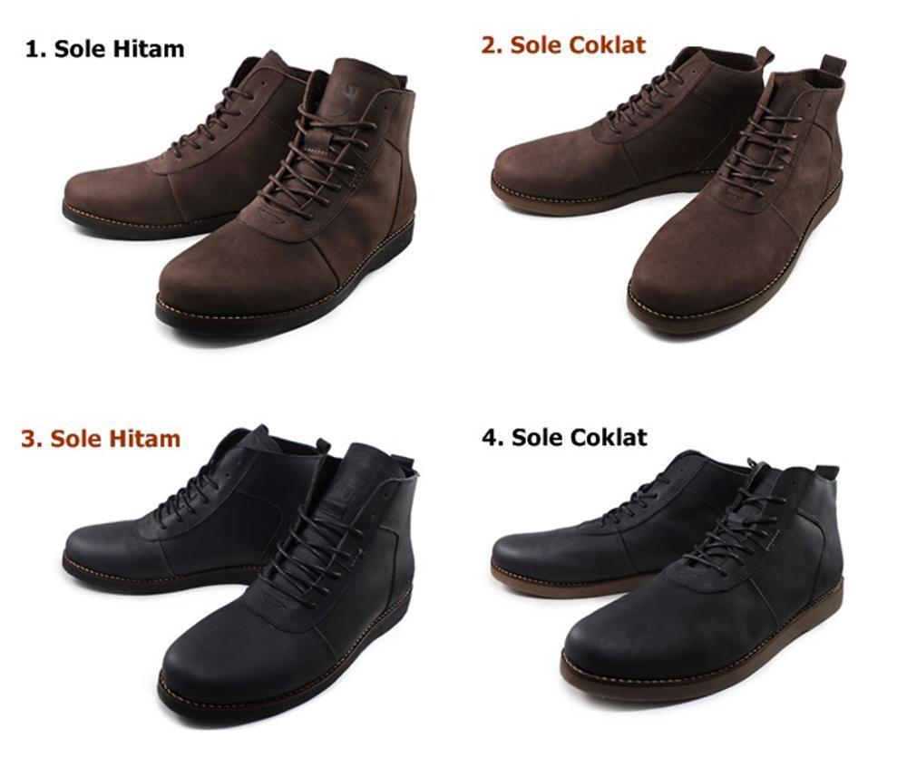 Promo Sepatu Sauqi Brodo Boots 100% Kulit Sapi Asli Hand Made Original # Sepatu Pria Tampil Jantan Kerja Kantor Termurah Kualitas Terbaik Fashion