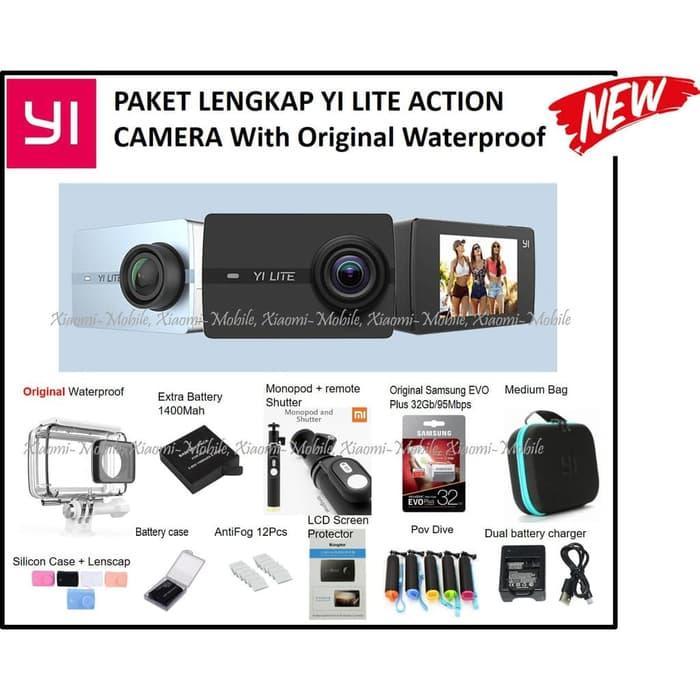Best Seller Paket Lengkap Xiaomi Yi Lite Action Camera With Original