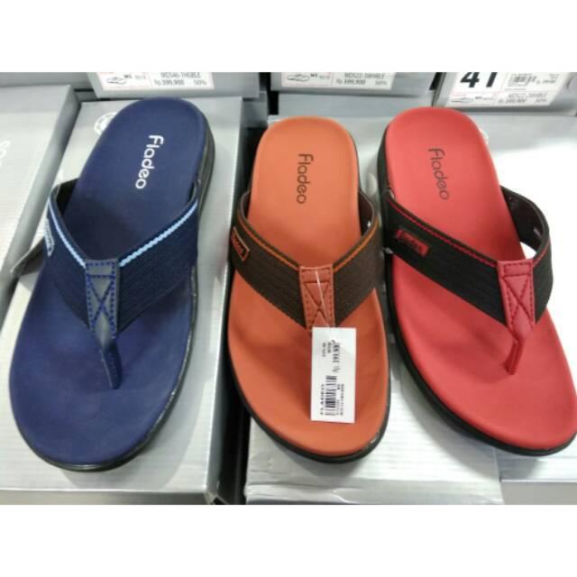 Sandal casual pria fladeo original 100% fullset box new arrival merah 39-43