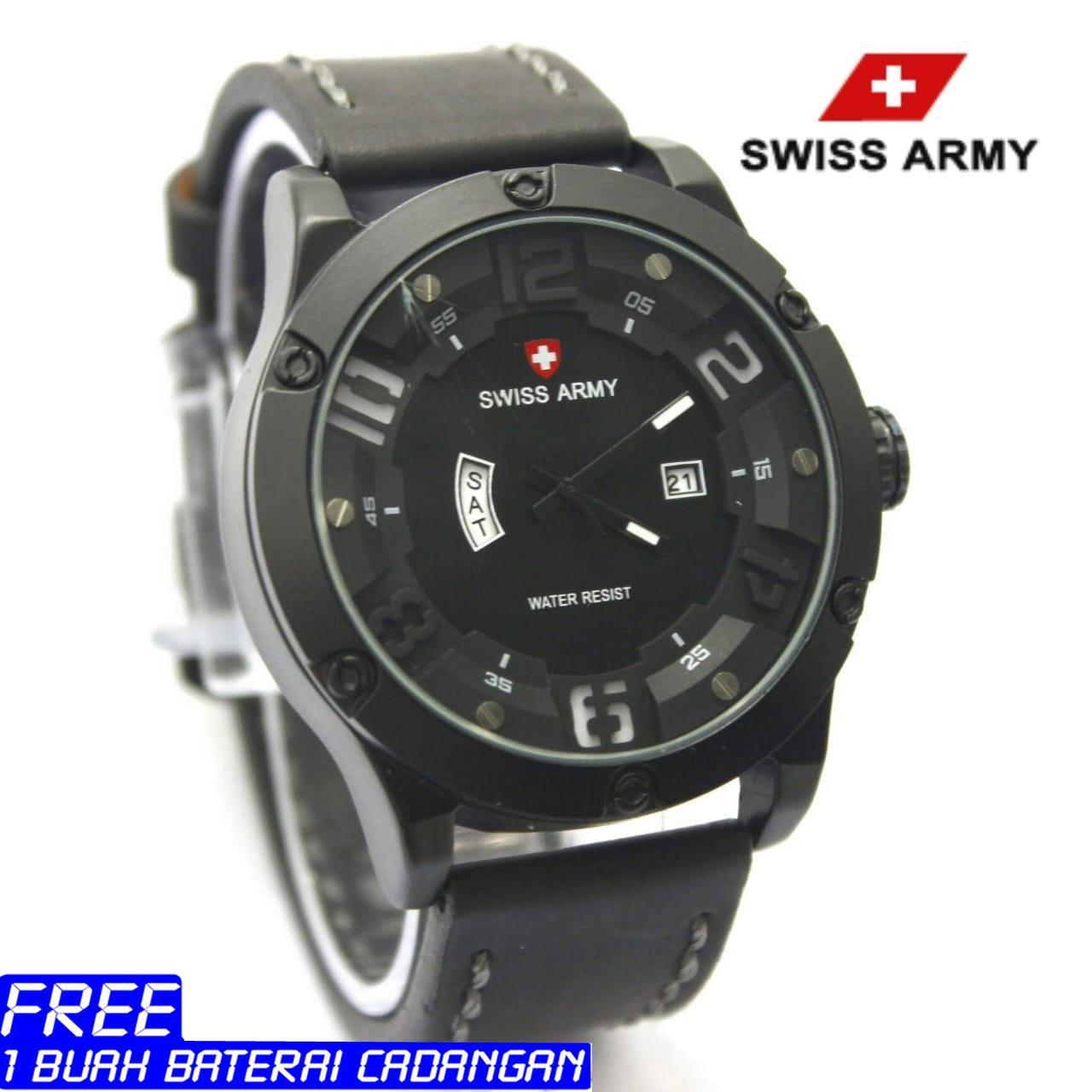 Swiss Army Jam Tangan Pria Leather Strap Sa8530zd Daftar Update Vixtorinox Sa 4123 Armyjam Analog Time