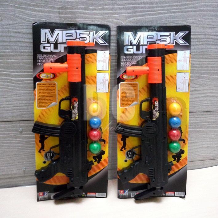Blink Mainan Anak MP5K Gun 2in1 / Mainan Tembak Angin Bola