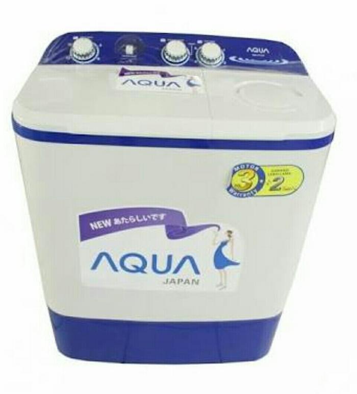 AQUA Japan QW771XT Mesin Cuci Manual 7kg Washing Machine 2 Tube Tabung